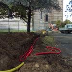 Raccordement gaz Basilique