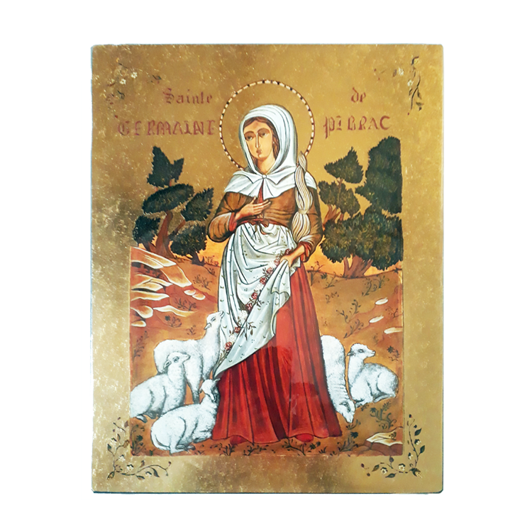 Icône Sainte Germaine de Pibrac (1579-1601)